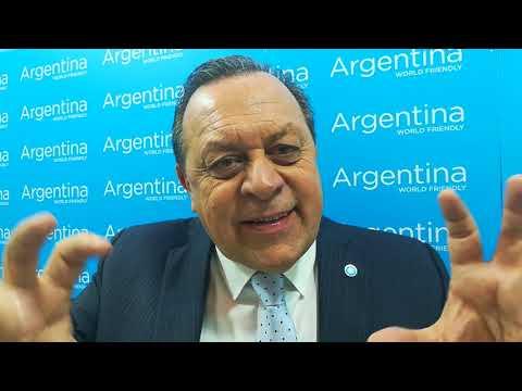 Il ministro del Turismo dell'Argentina, Gustavo Santos