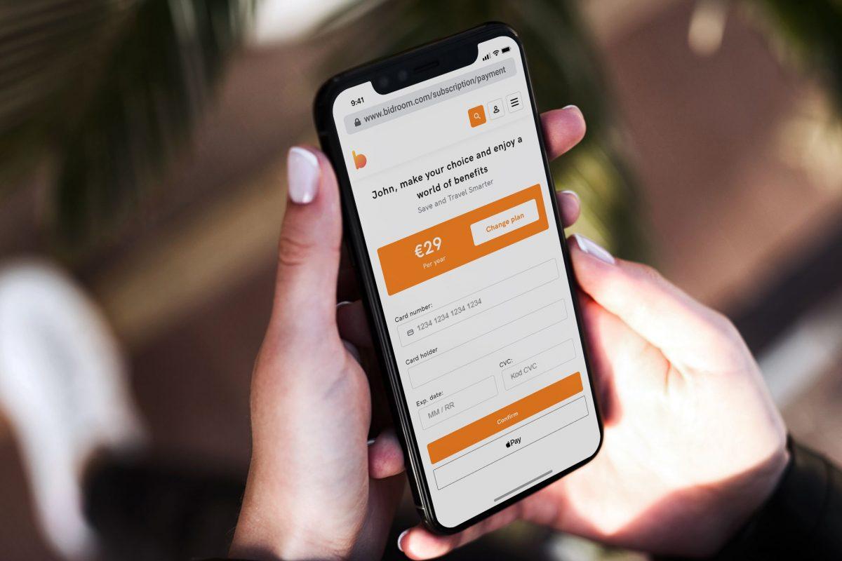 Bidroom, Apple Pay a disposizione in Italia