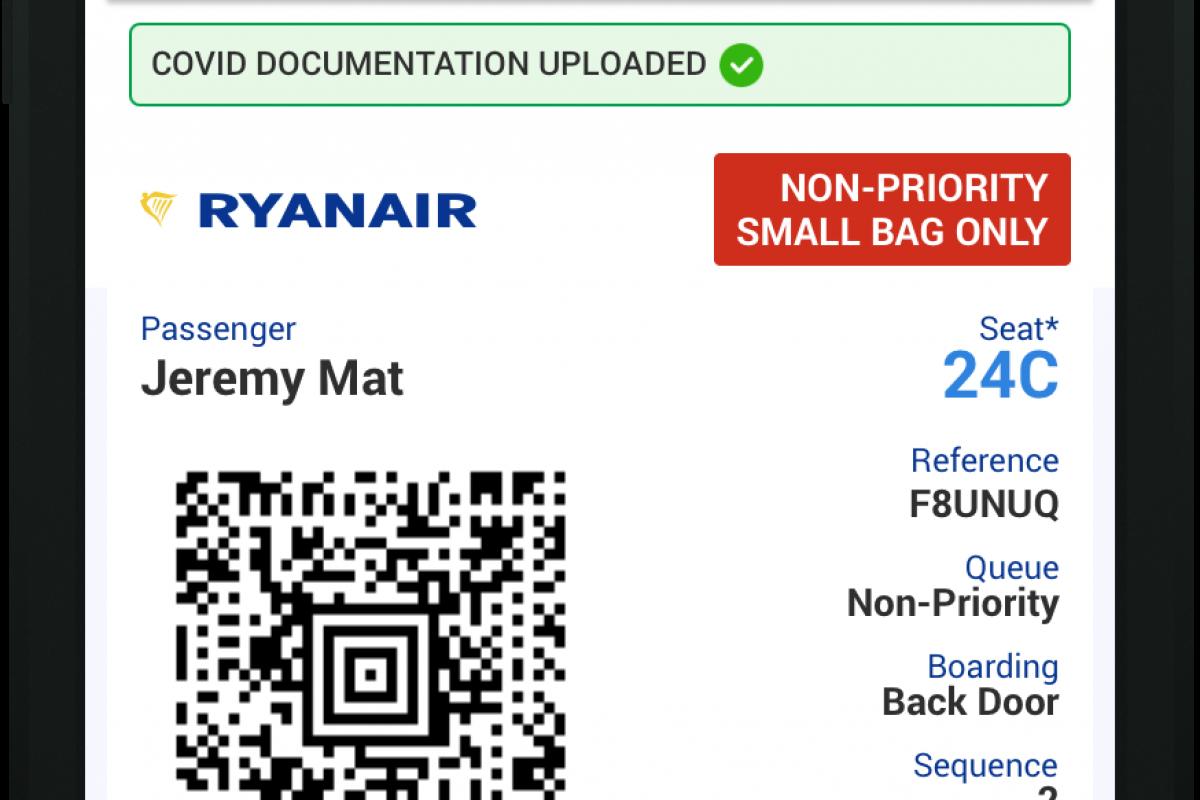 Covid-19 Travel Wallet, il nuovo servizio di Ryanair
