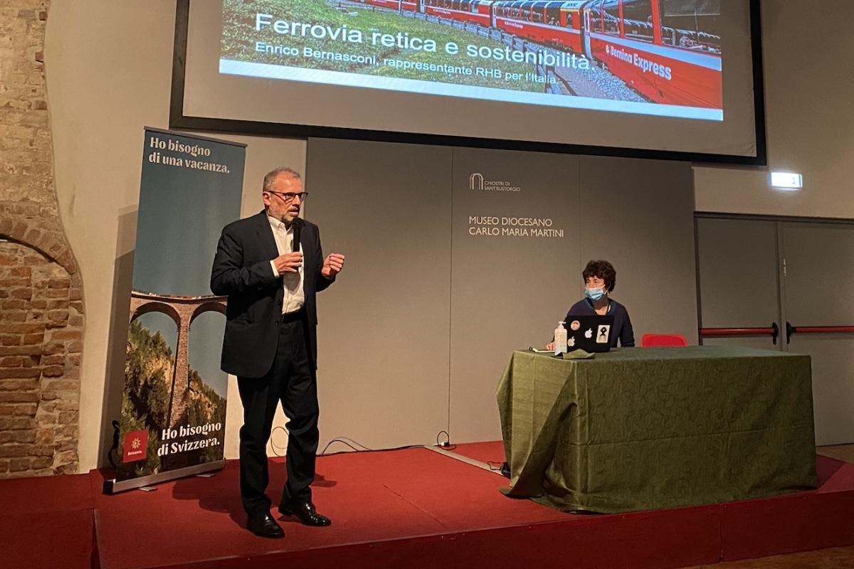 """Bernasconi: """"Ferrovia retica esempio di viaggio sostenibile"""""""