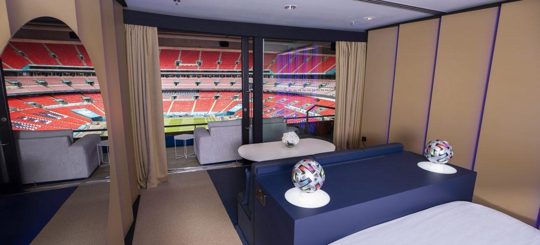 Wembley, camera con vista