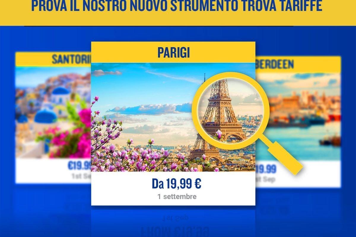 Ryanair, arriva il nuovo Fare Finder: visual booking più semplice