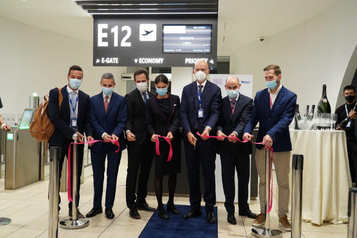 Roma Fiumicino, inaugurata la base di Wizz Air