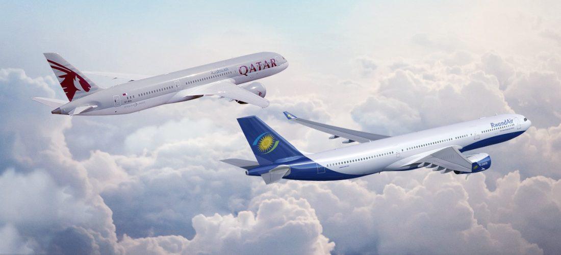 Qatar Airways: partnership con RwandAir