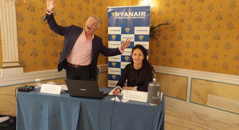 """O'Leary-Ryanair: """"Il brand Alitalia non ci interessa"""""""