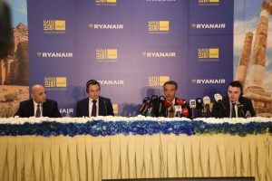 Ryanair in Giordania: 22 voli da 14 Paesi