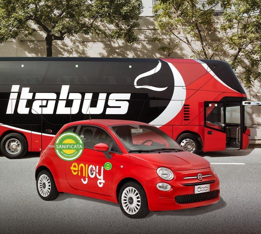 Mobilità integrata e sostenibile: accordo Enjoy (Eni) e Itabus